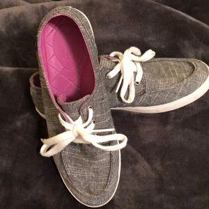 Grey linen Reef Boat Shoes